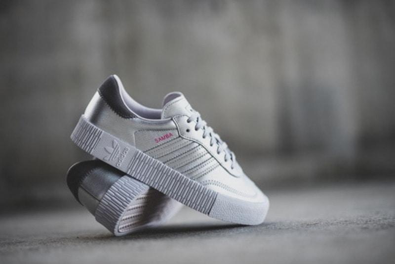 c4a28c69513b 해외  아디다스 우먼스 삼바로즈 Adidas W Sambarose Metallic Silver ...
